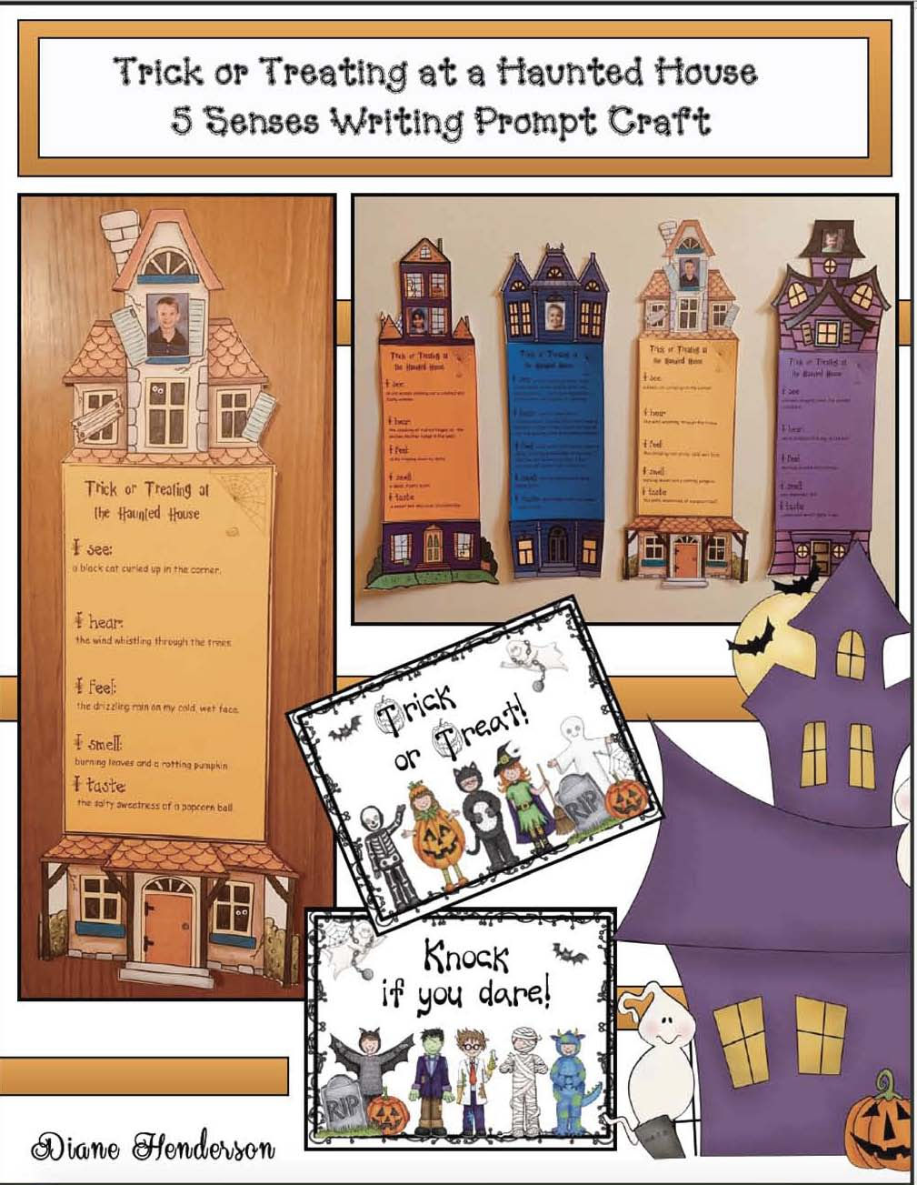 haunted house craft, halloween graphing extensions, writing rubrics,haunted house writing prompts, haunted house activities, october writing prompts, october bulletin board ideas, halloween graphing extensions, halloween bulletin board ideas, halloween activities, ideas for Halloween party day,
