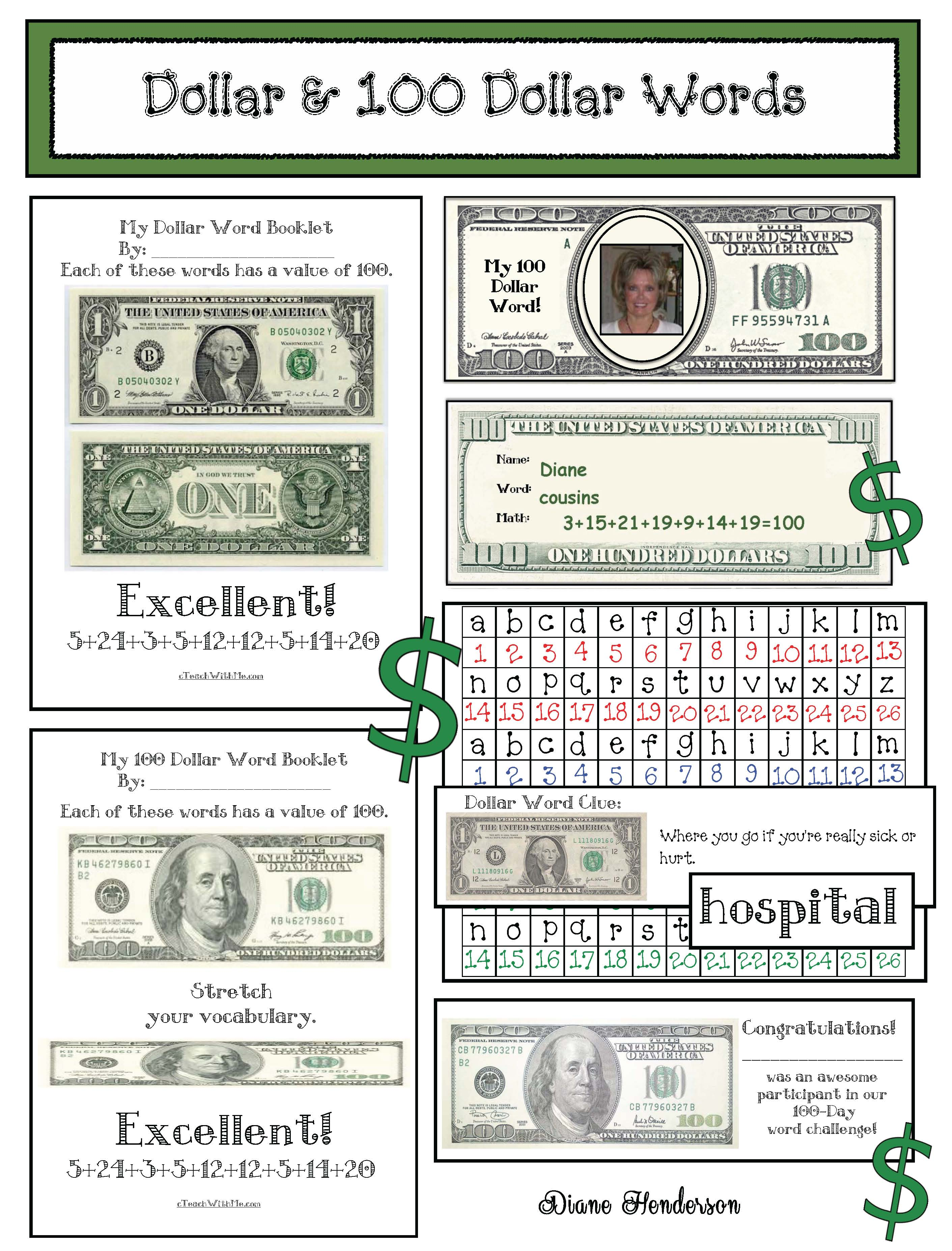 cov Dollar Words