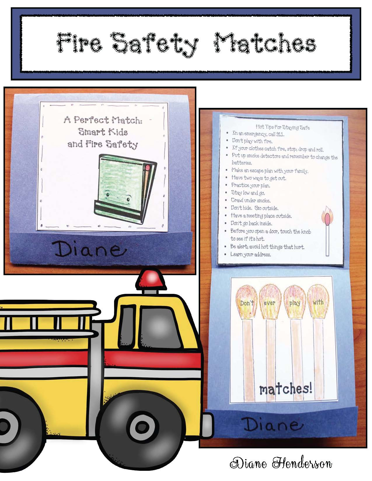 safety matches craft, fire safety crafts, fire safety writing prompts, fire safety games, fire safety puzzles, fire safety songs, common core fire safety, 911 activities, 911 crafts, , fire hat pattern, fire safety songs, fire safety emergent reader