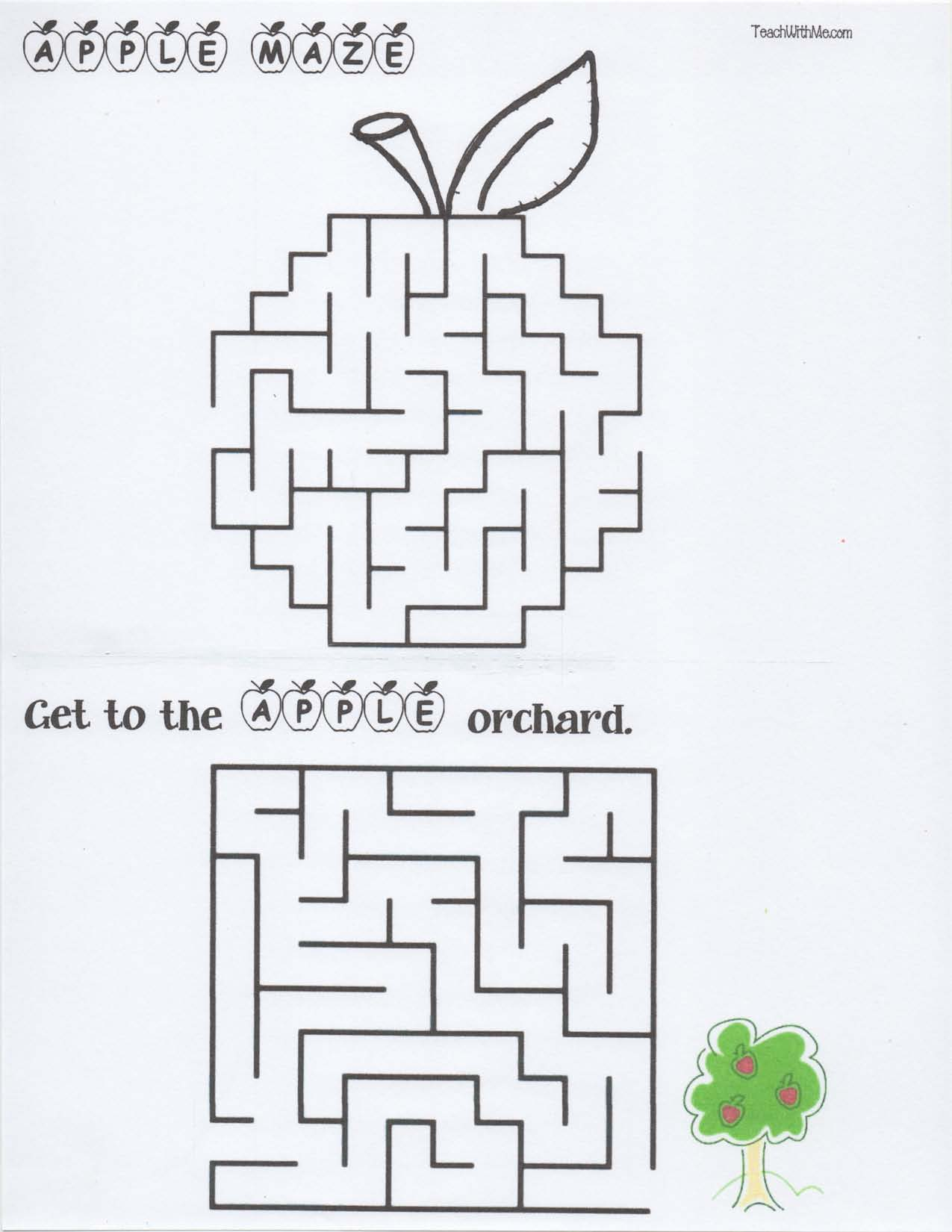 apple mazes, apple activities, apple lessons, apple word find, labeled apple, parts of an apple activities, labeling an apple, label an apple printable,apple maze,