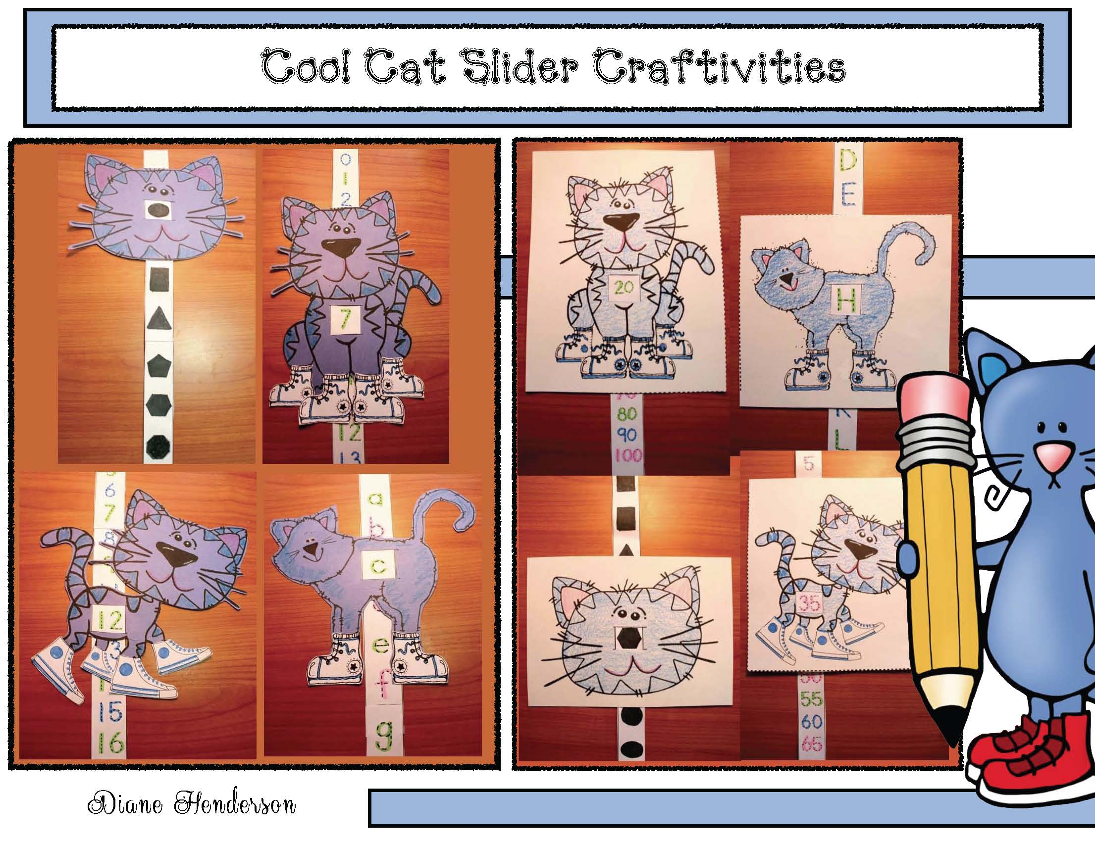 cov cool cat slider crafts