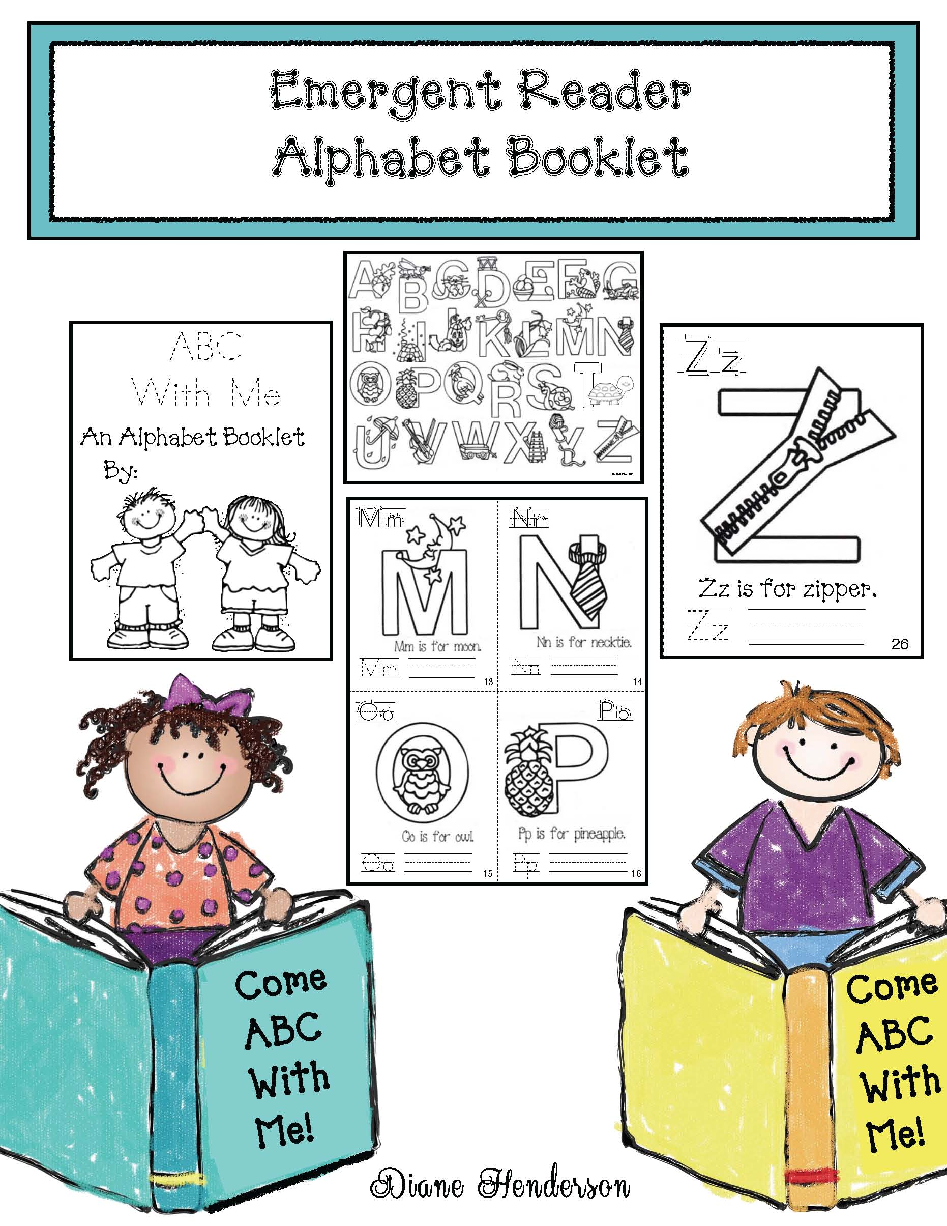 cov emergent reader abc acorn booklet
