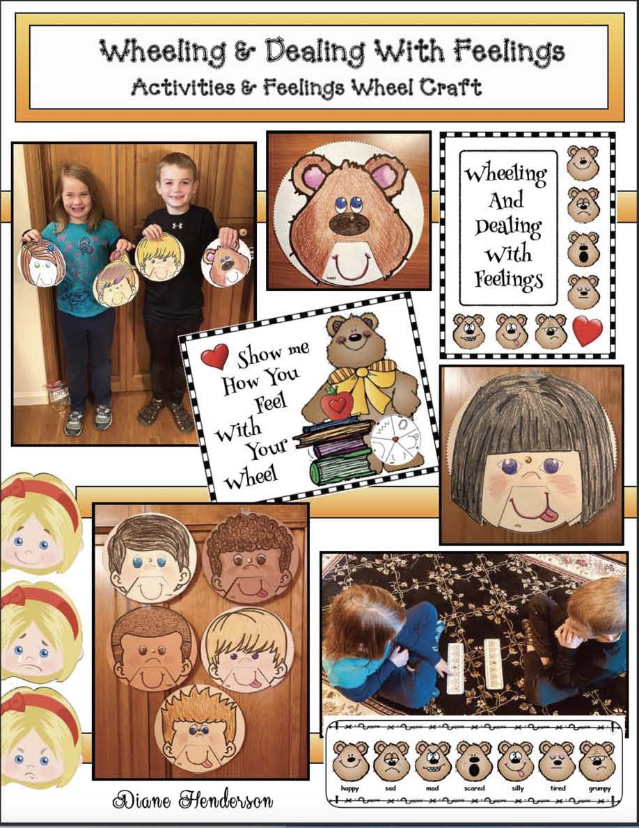 feelings crafts, feel wheel, dealing with feelings, emotions, teaching about feelings, teaching about emotions, feelings posters, feelings activities, graphing how you feel, classroom management