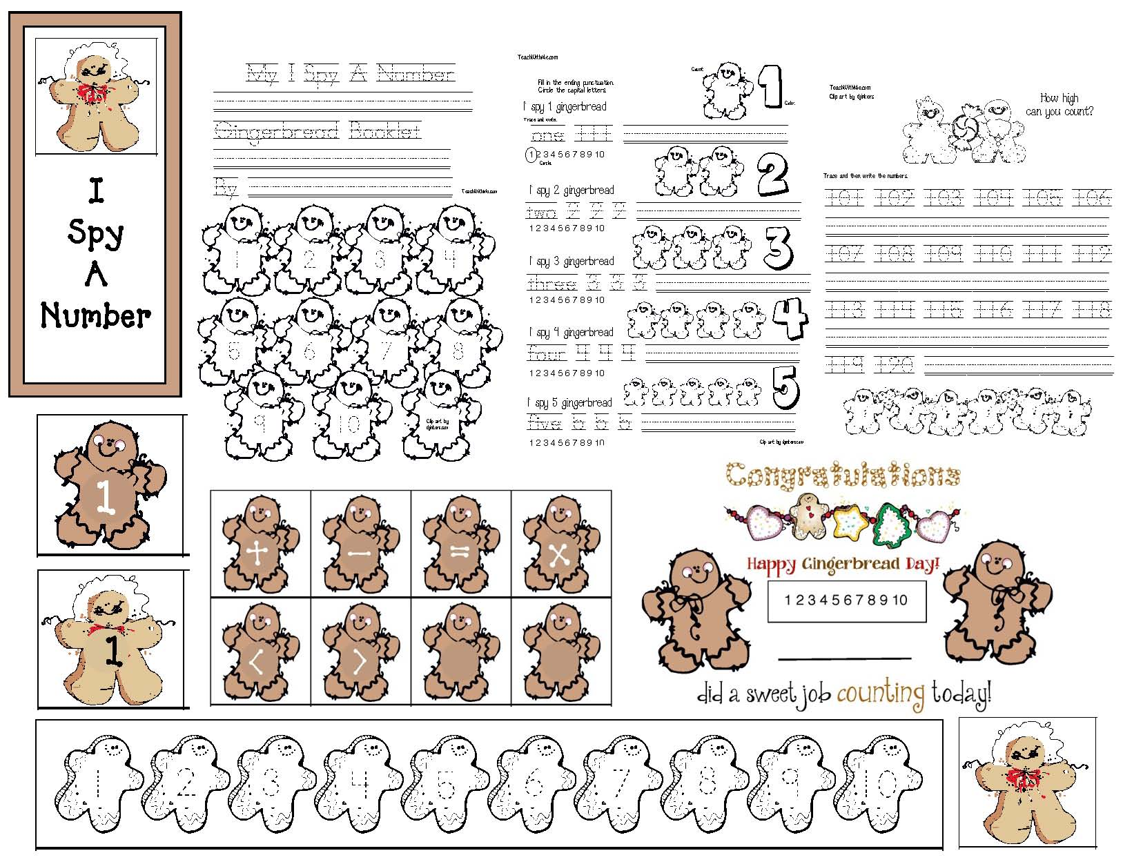 gingerbread crafts, gingerbread games, gingerbread centers, gingerbread activities, Christmas centers, skip counting activities, counting backwards, Christmas games, Christmas math