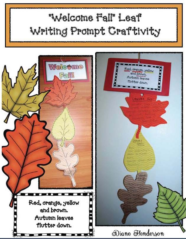 leaf activities, chlorophyll activities, leaf crafts, fall writing prompts, writing prompts for fall, fall crafts, autumn crafts for kids