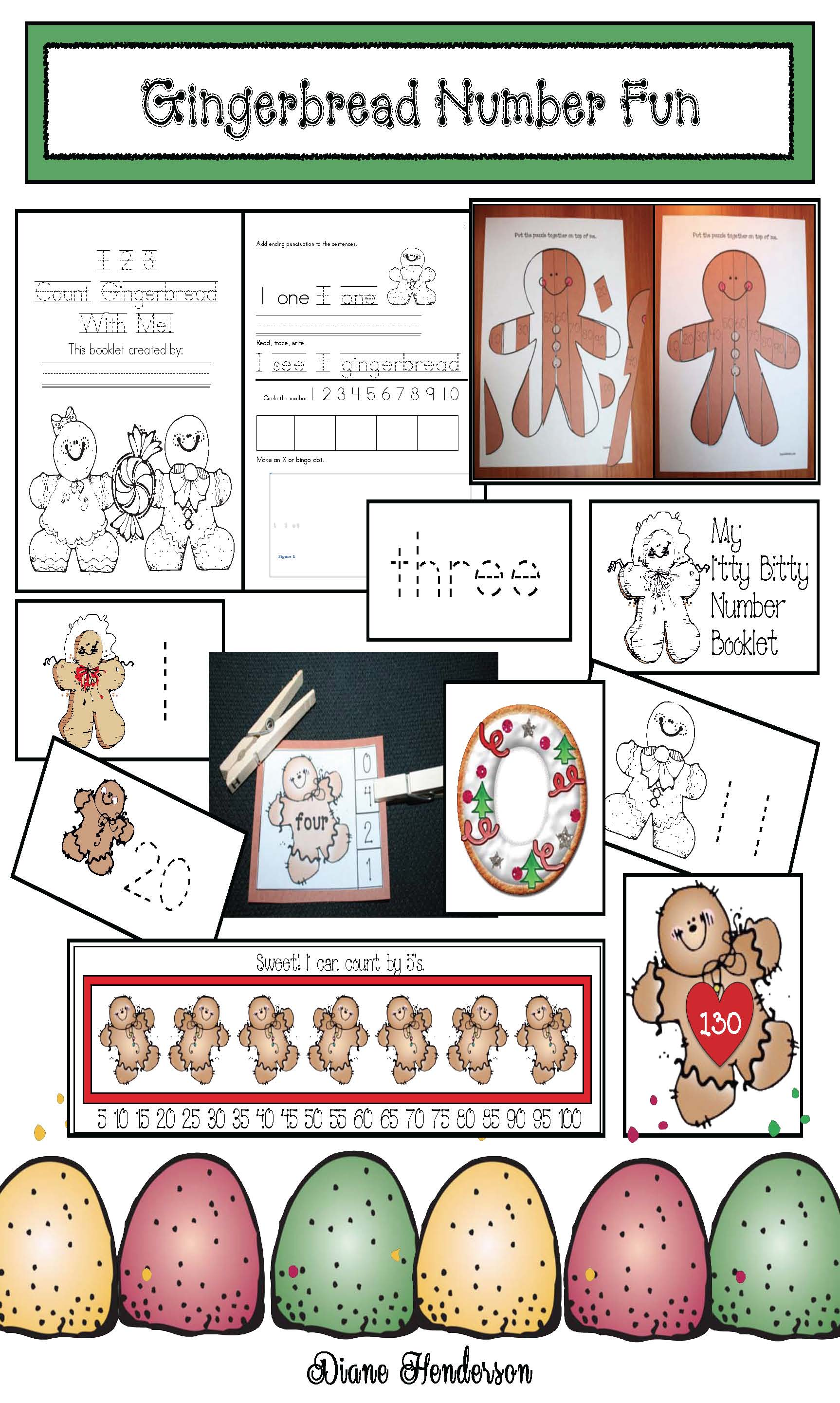 gingerbread crafts, gingerbread games, gingerbread centers, gingerbread activities, Christmas centers, Christmas games, Christmas math