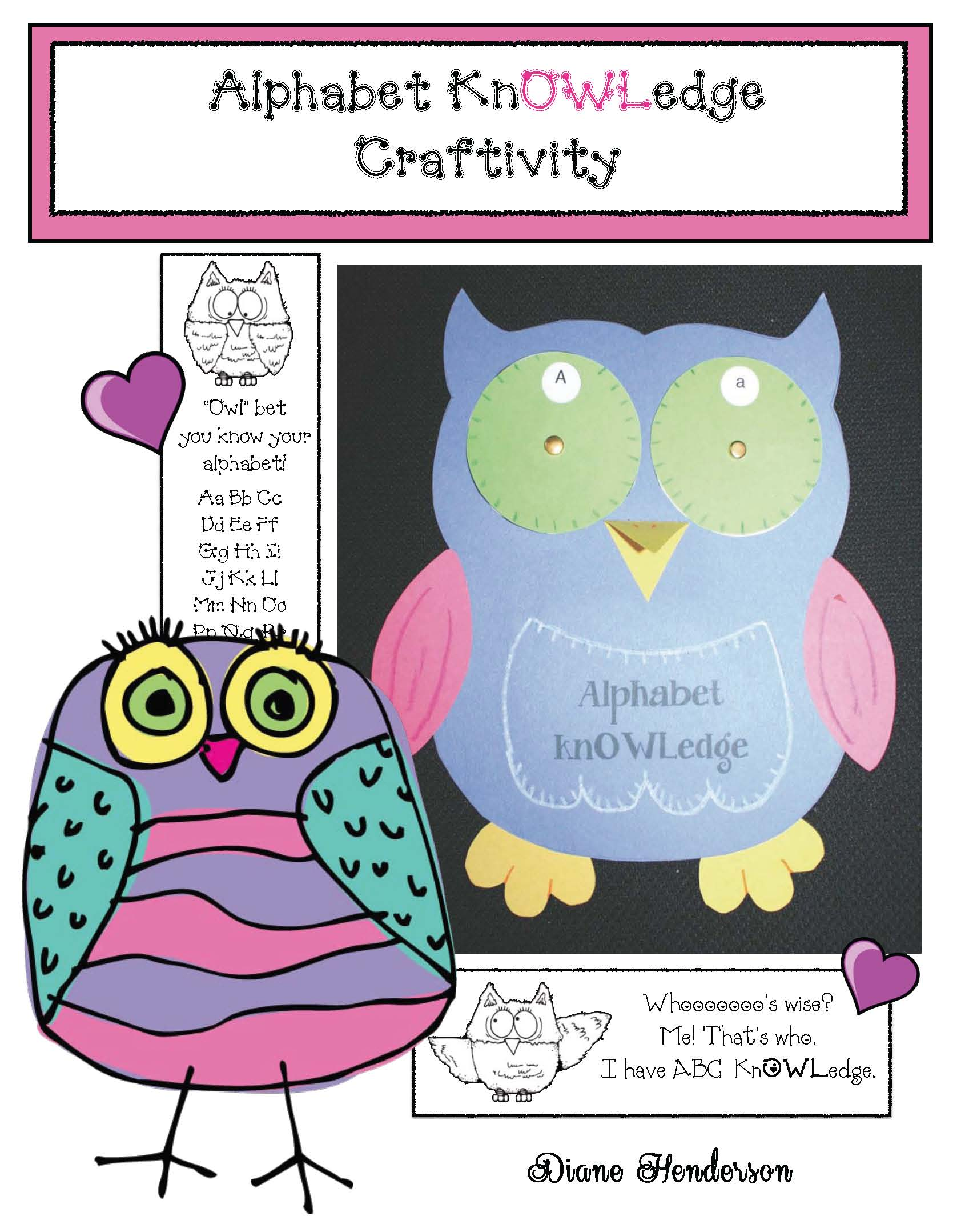 "alphabet activities ""Owl-phabet"""