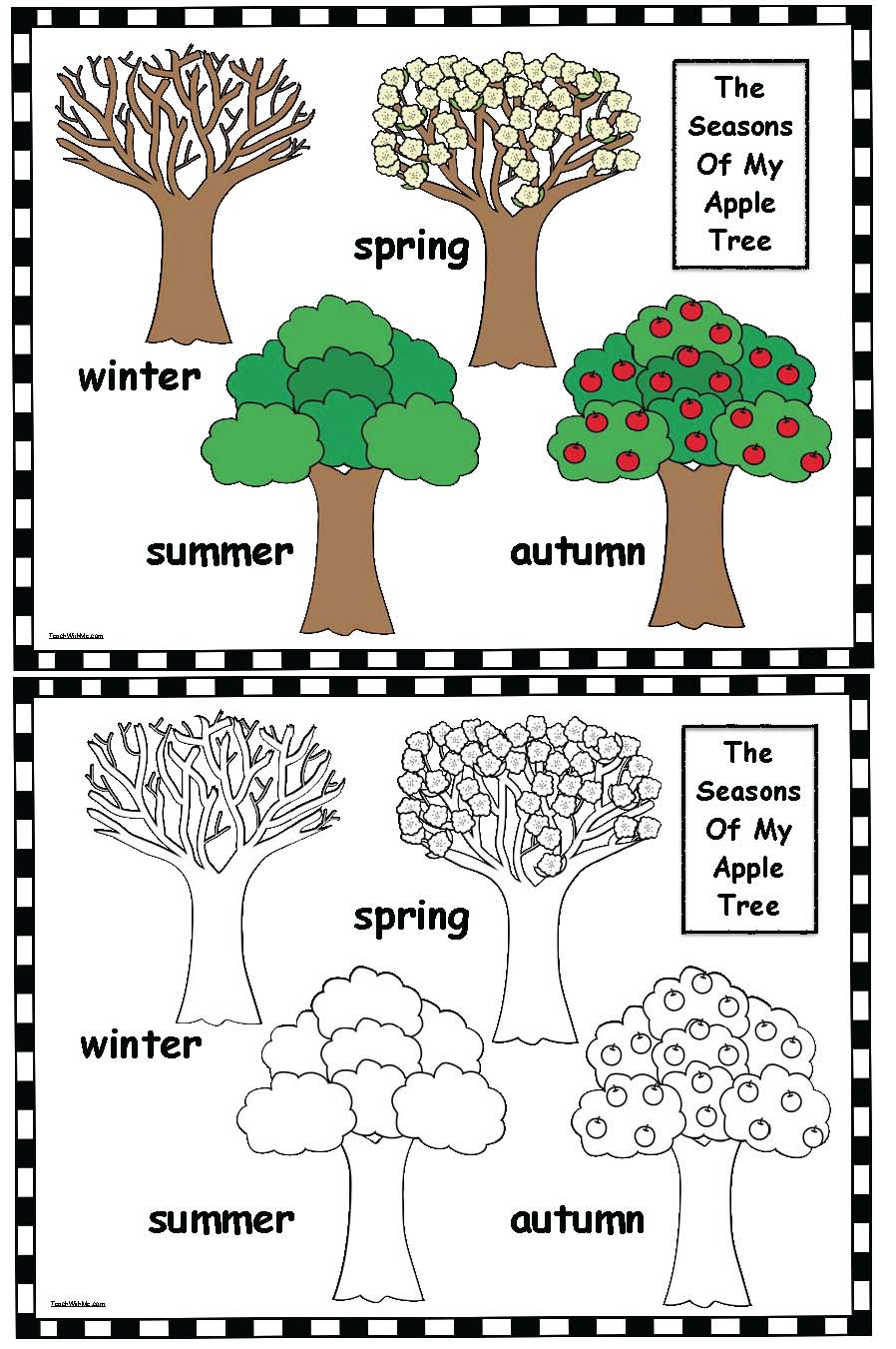 cov seasons of my apple tree poster set 2