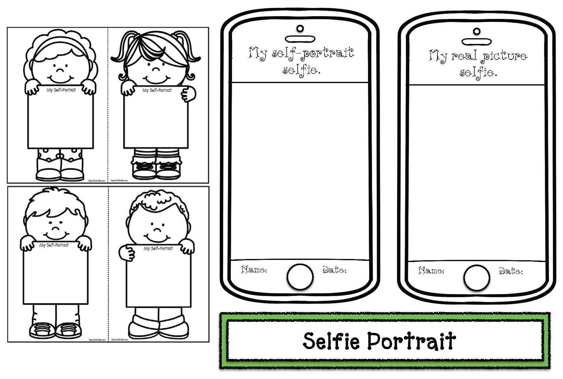 selfie self portrait writing prompt craft