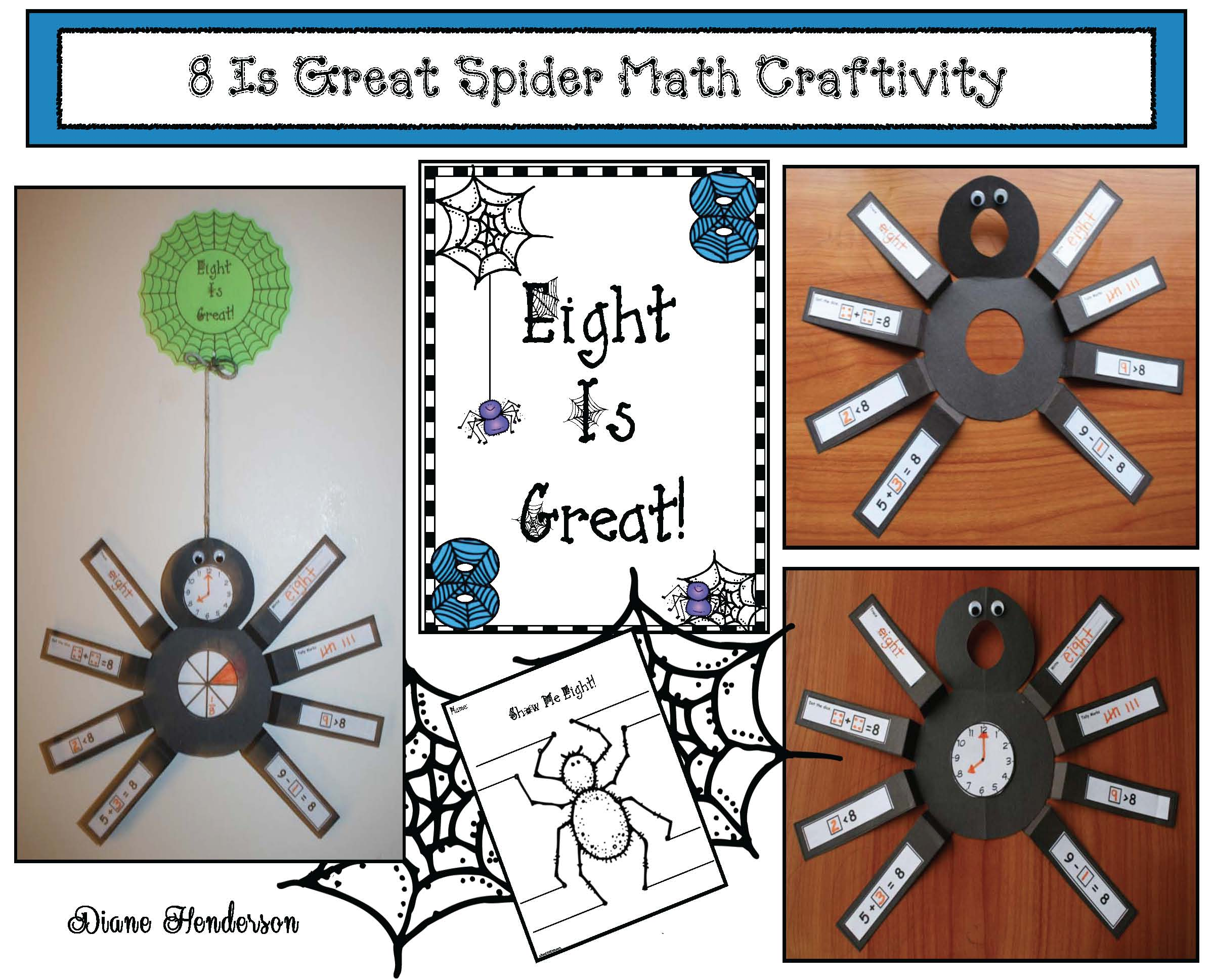 math centers, math crafts, spider centers, spider activities, spider crafts, october bulletin board ideas. spider bulletin board ideas