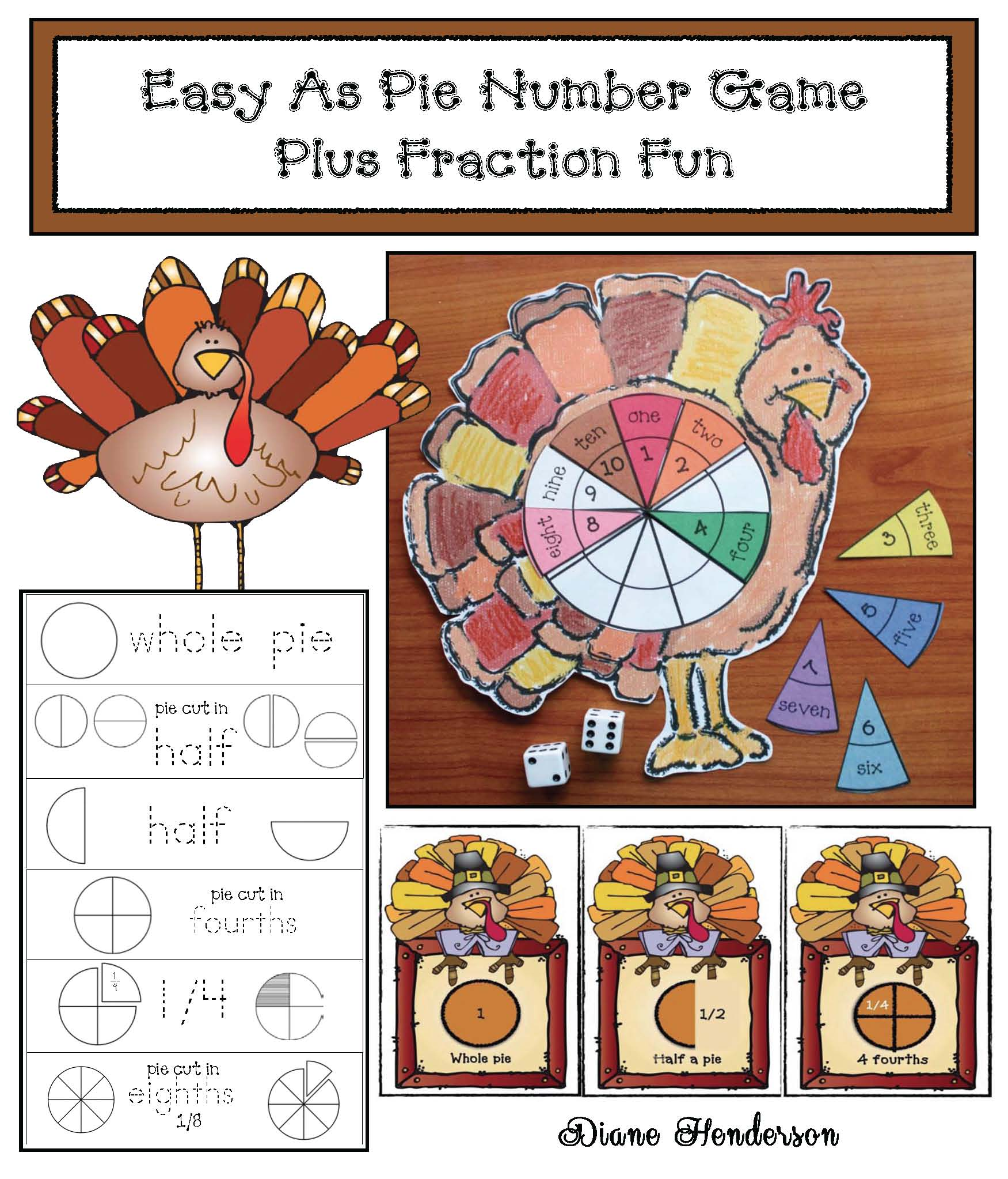 thanksgiving centers, math centers, thanksgiving activities, fraction activities, thanksgiving crafts, turkey crafts, thanksgiving games