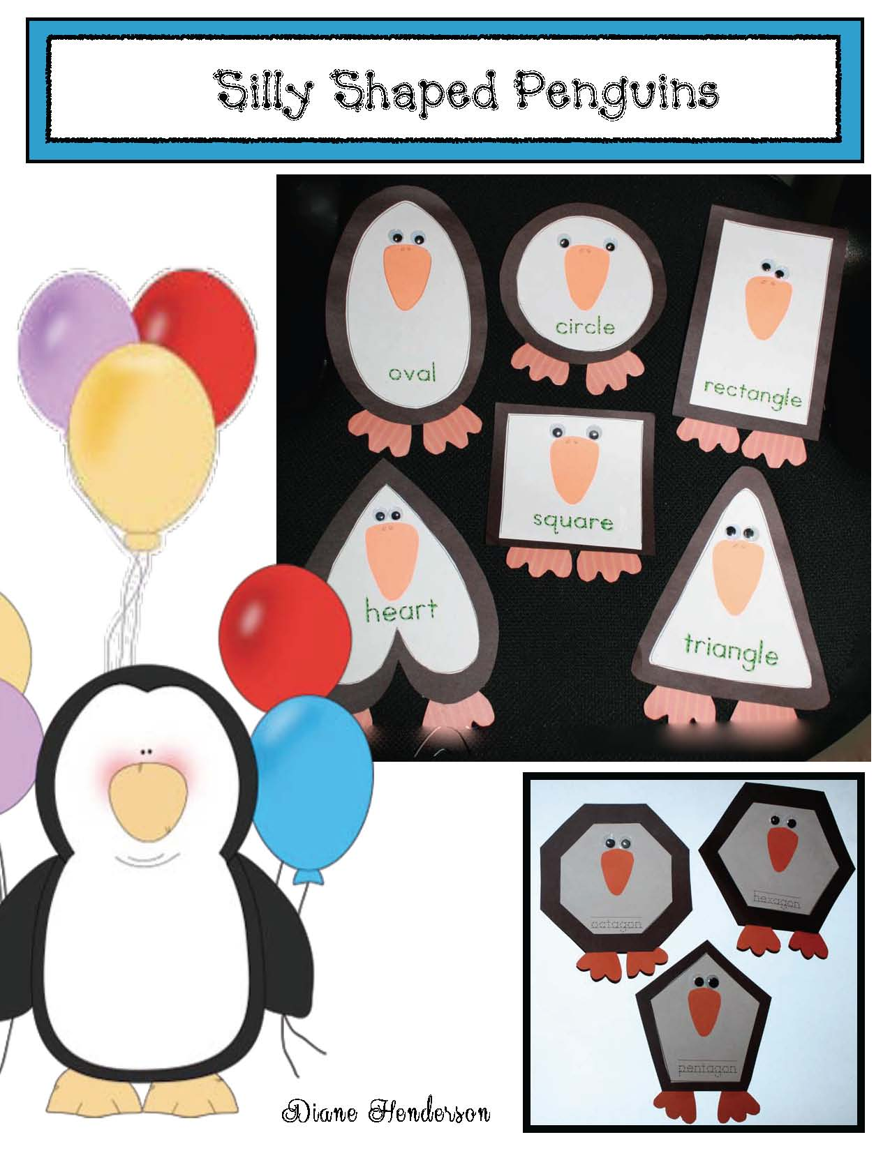 cover FREE Silly Shaped Penguins 2