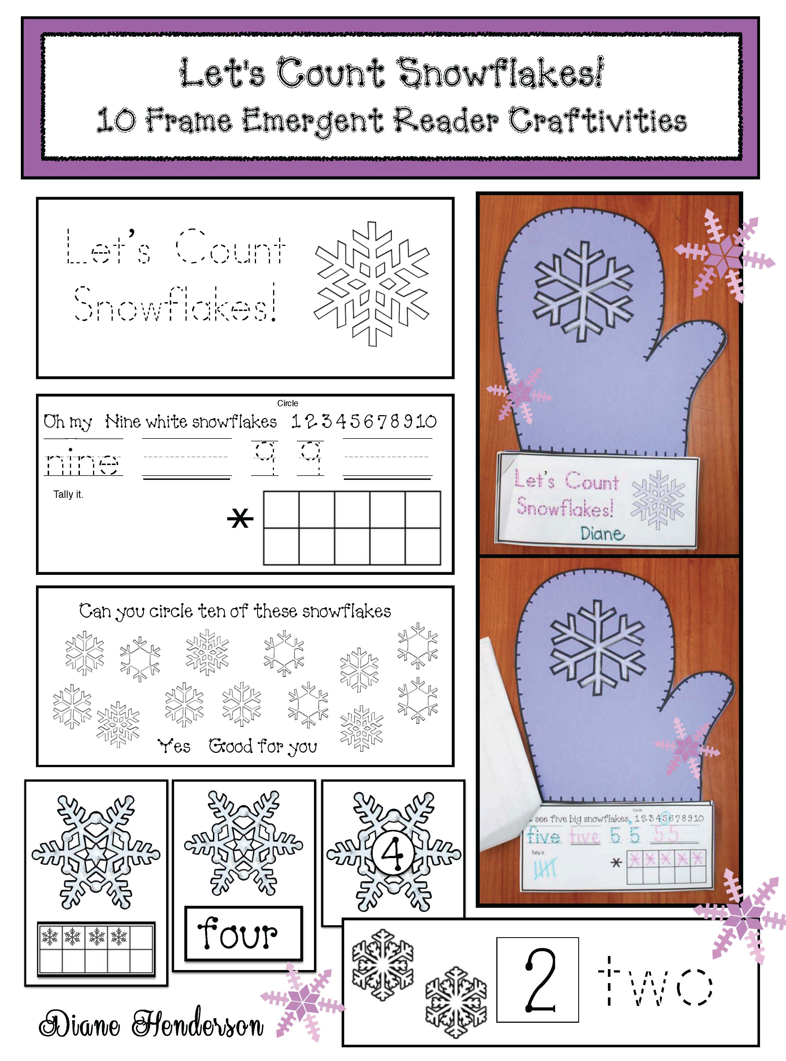 cover Lets Count Snowflakes ER mitten craft