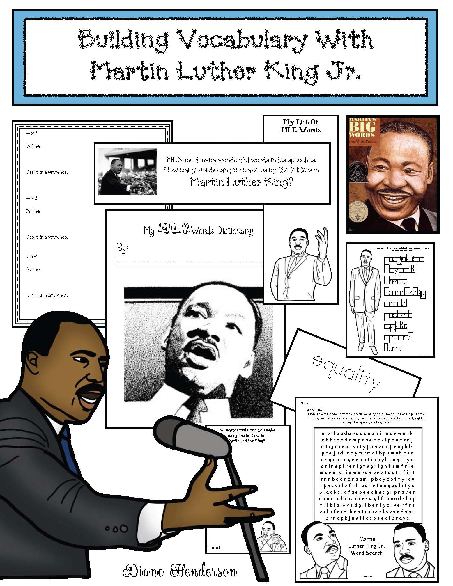 cover MLK vocab pkt