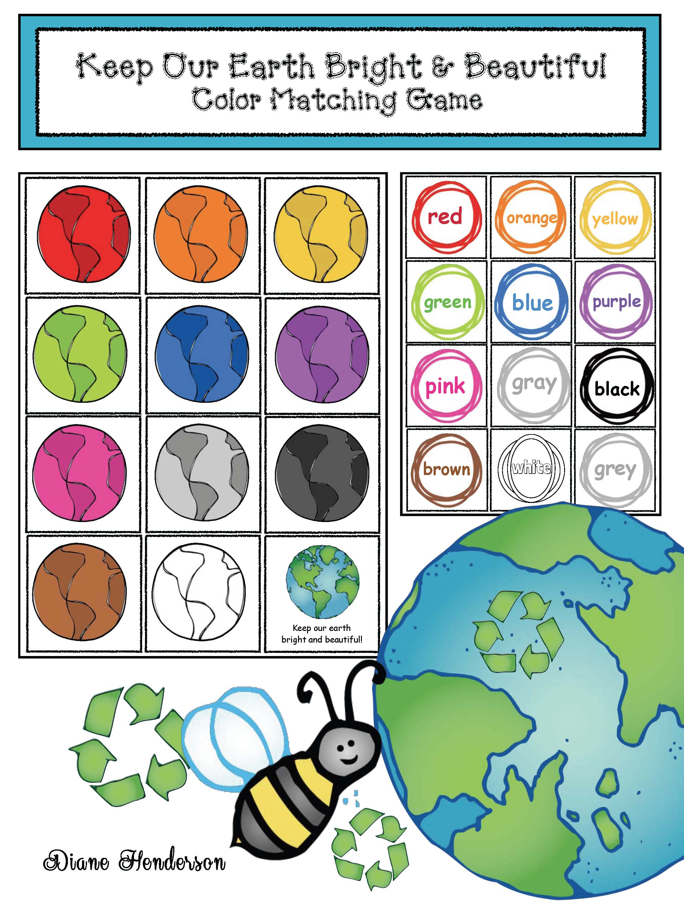 earth day activities, earth day crafts, telling time activities, telling time games, earth day games, earth day bulletin boards, earth day writing prompts