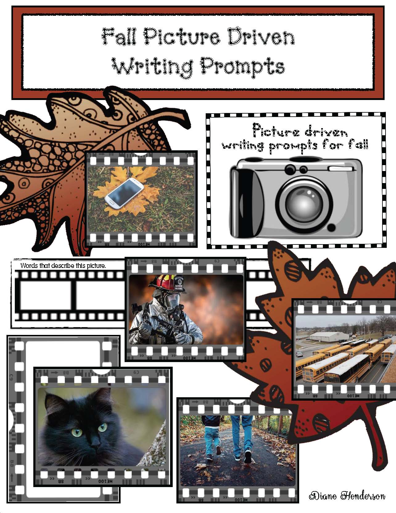 writing prompts, writing prompts for fall, october writing prompts, september writing prompts, apple writing prompts, halloween writing prompts, fire safety writing prompts, november writing prompts, thanksgiving writing prompts