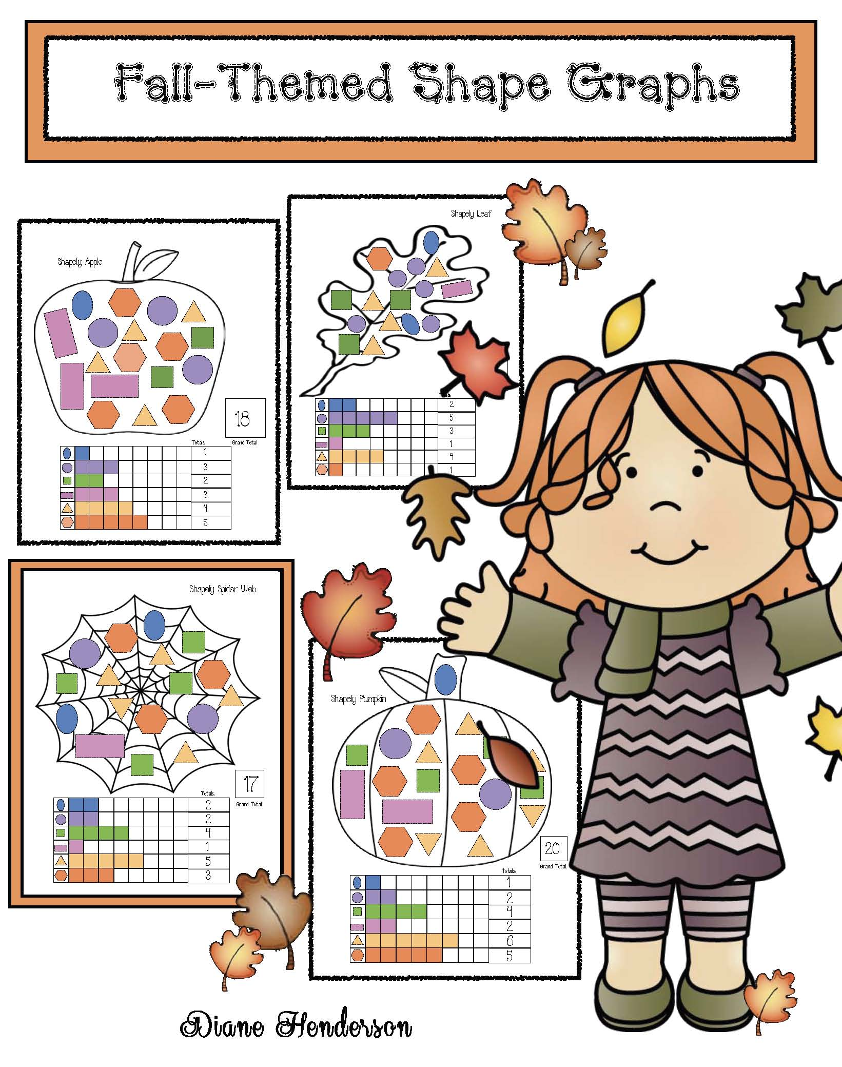 cover fall themed shape graphs