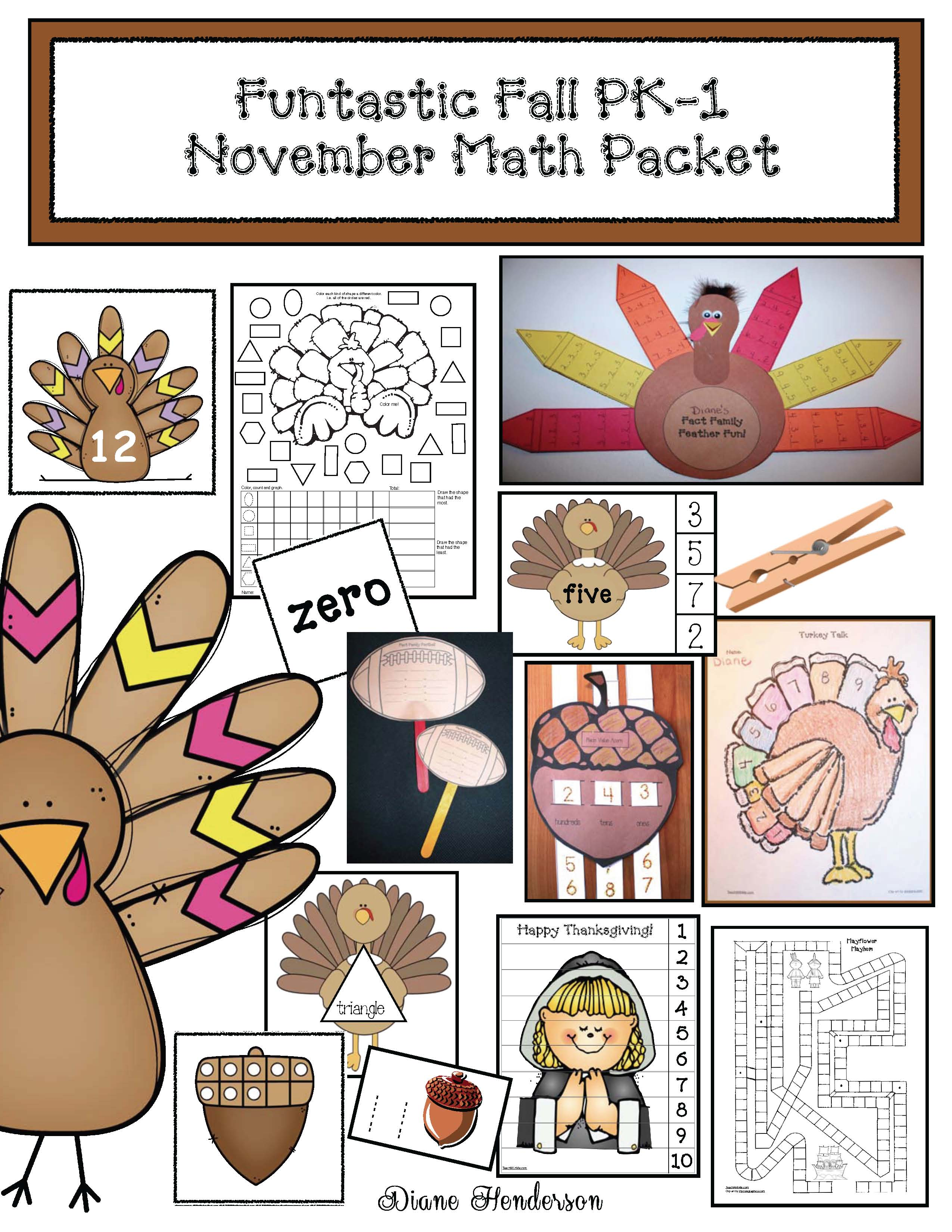 cover funtastic fall November Math PKT