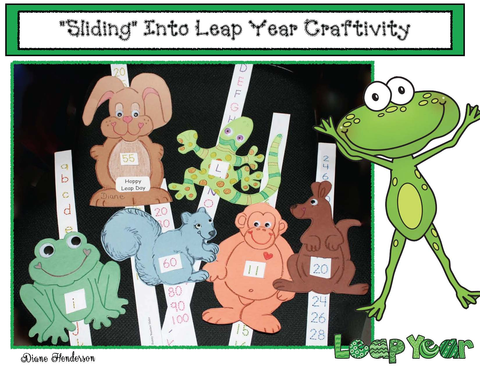cover sliding into leap year craft