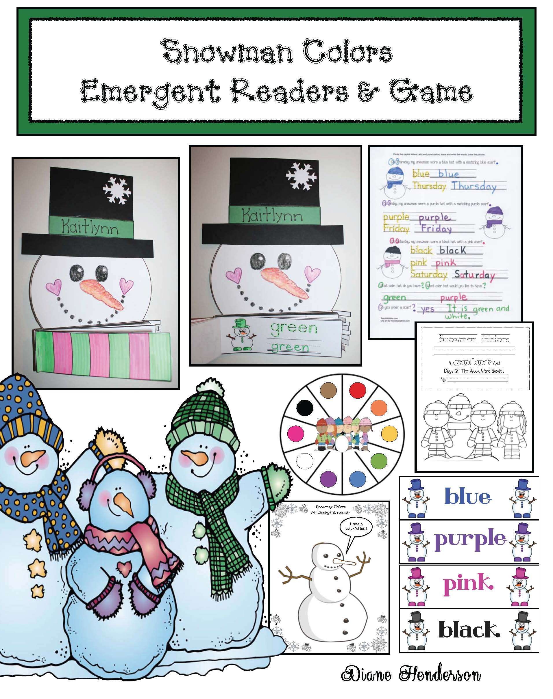 cover snowman colors er and game