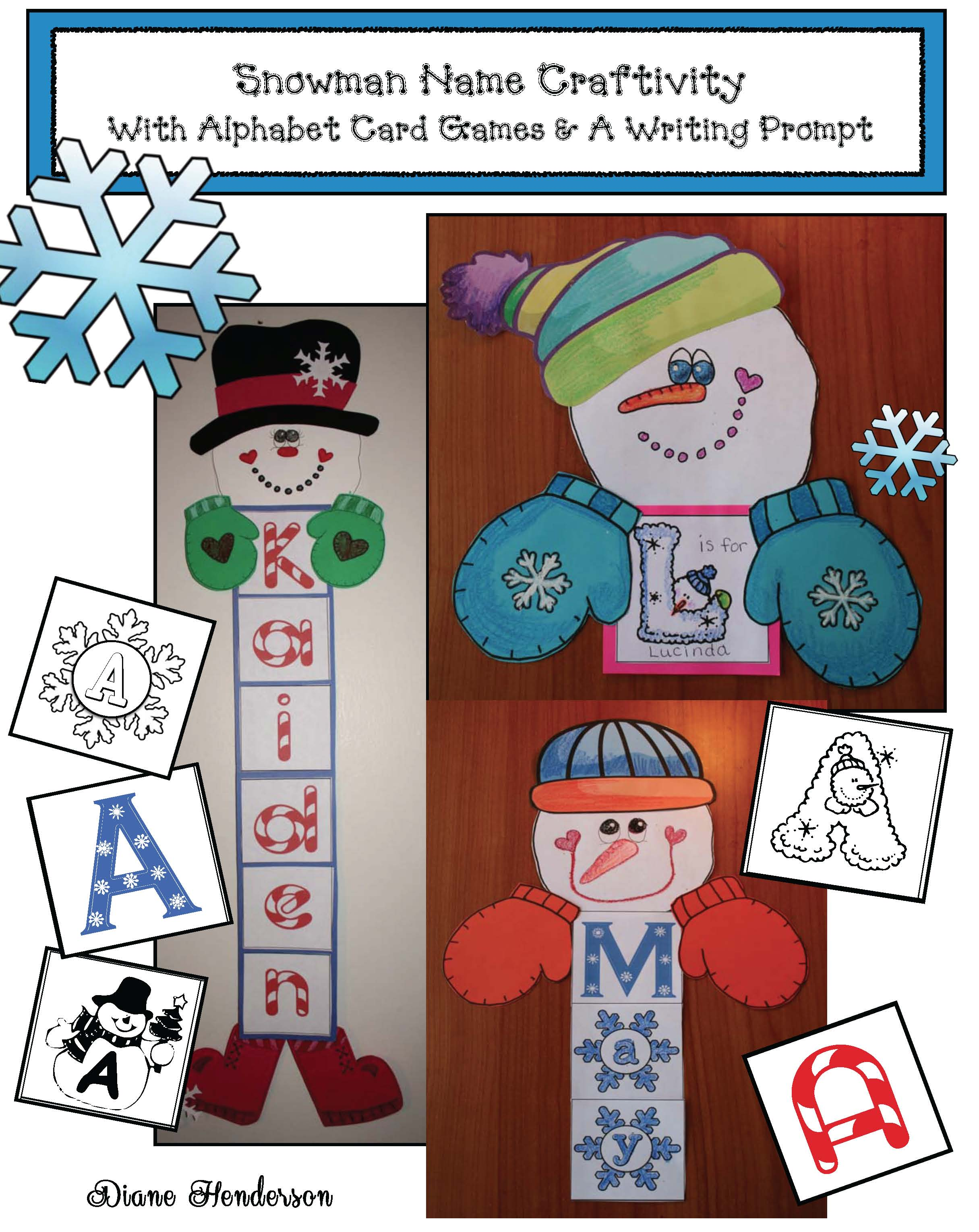 cover snowman name craftivity