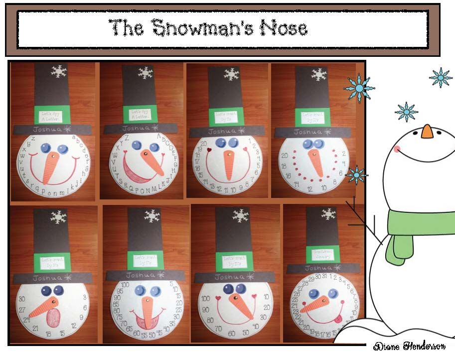 snowman activities, snowman crafts, January bulletin board ideas, snowman games, 2D shape activities, color word activities, color activities, alphabet activities, skip counting activities