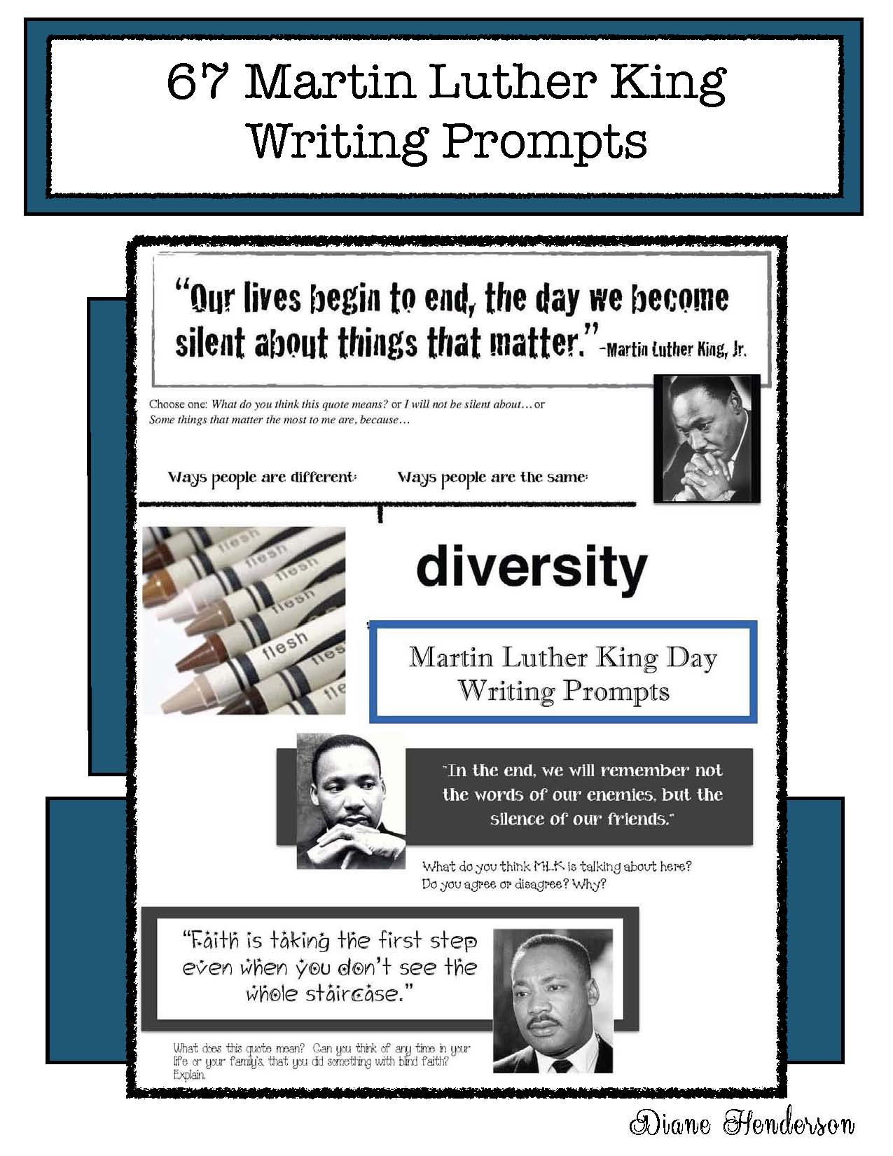 cover tMLK writing prompts