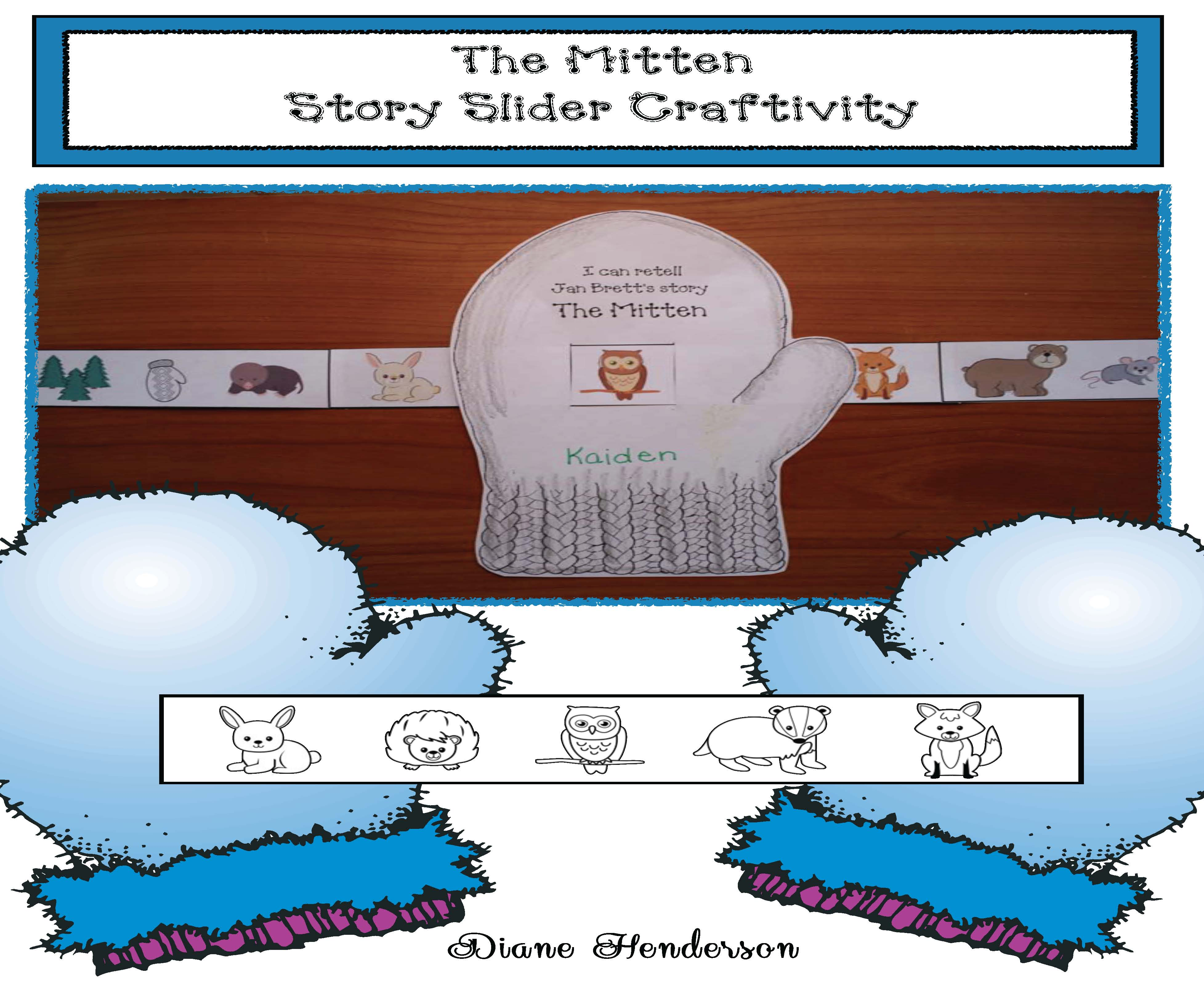 cover the mitten story slider craft