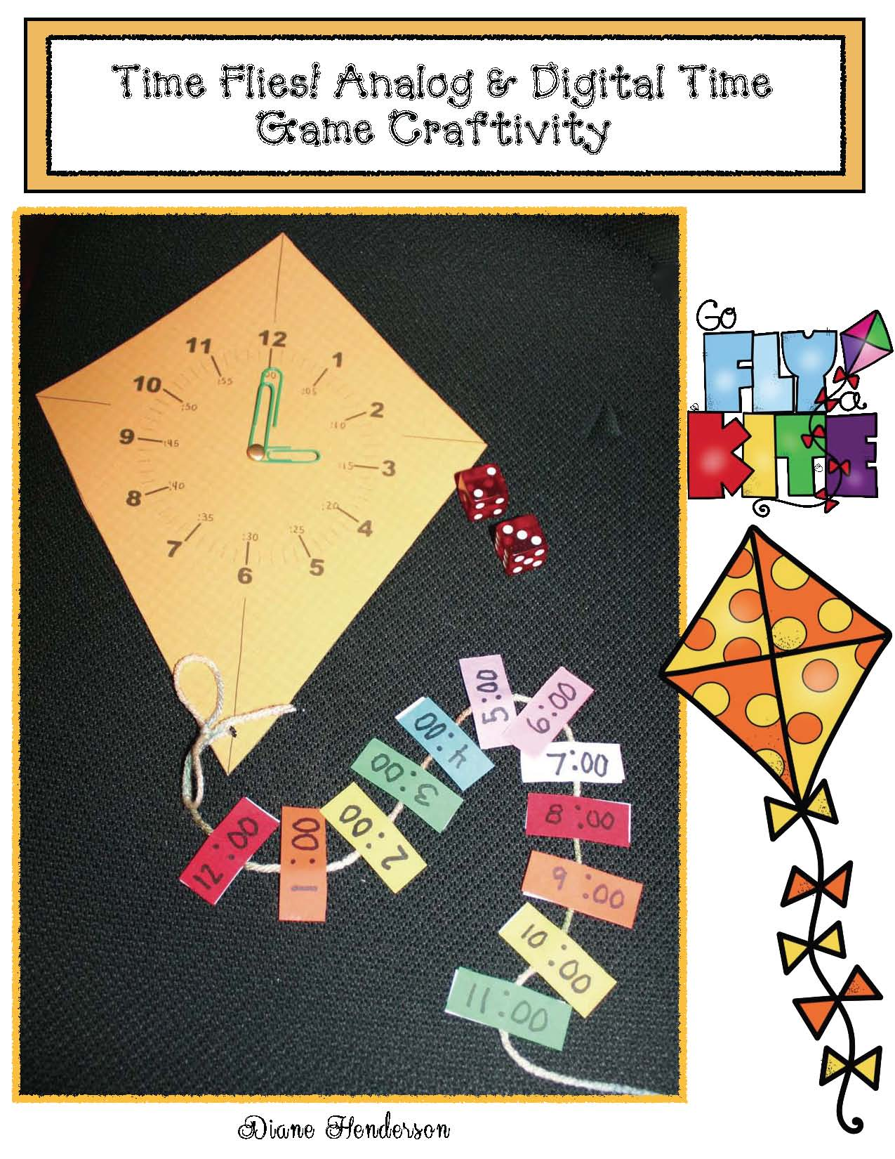 kite crafts, kite activities, March bulletin board ideas, glyphs, kite glyph, shamrock glyph, analog and digital time games, telling time to the hour activities, patterning activities, crafts for March, print and go worksheets for spring