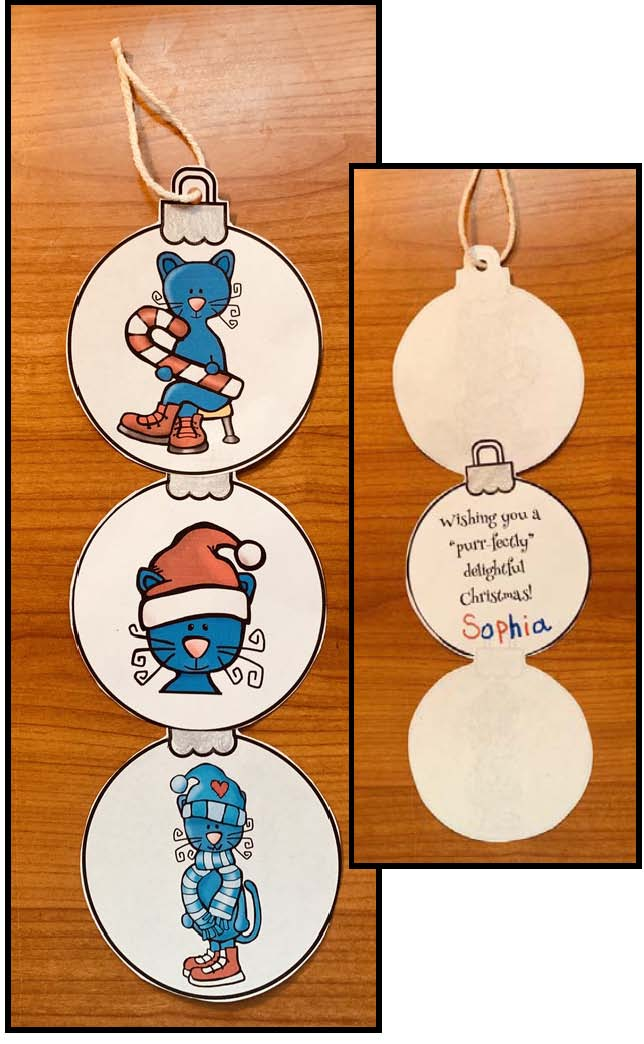 Pete the cat activities, Pete the cat crafts, Christmas Pete the cat, Christmas ornaments, Christmas crafts, keepsake ornaments, December arts & crafts, Center activities for December