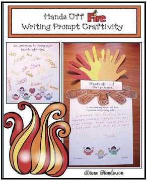 fire safety craft, fire safety activities, fire safety writing prompts