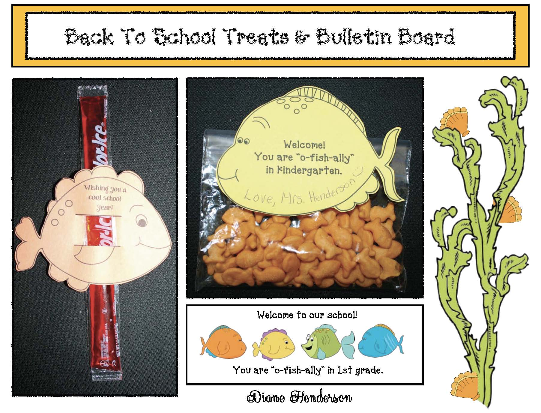 fre treat bags ideas for back to school