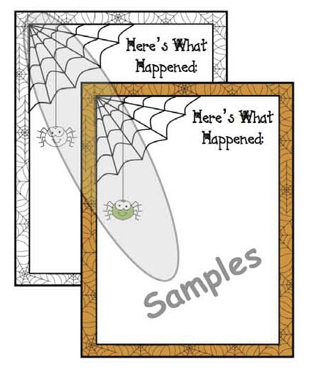 heres what happened very busy spider writing prompt worksheet