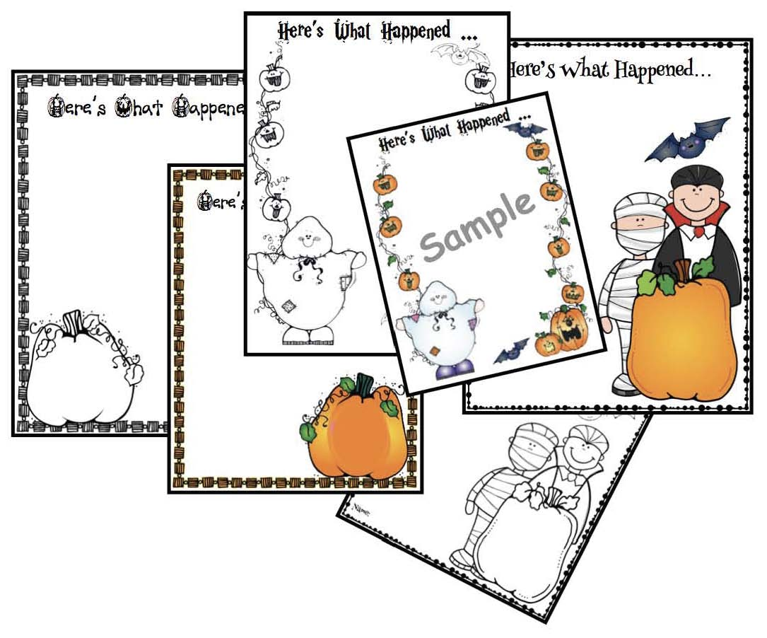 pumpkin crafts, halloween crafts, retelling a story activities, sequencing a story activities, activities to go with Big Pumpkin, Halloween party ideas,  october wirting prompts