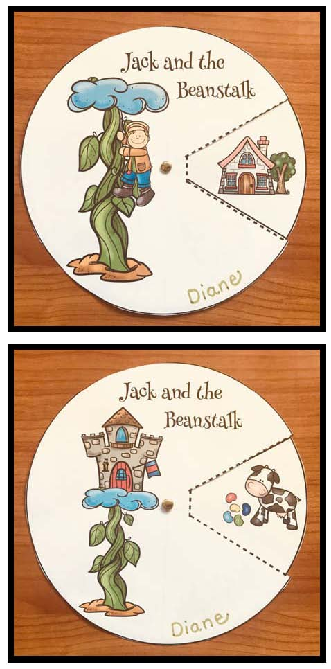 jack and the beanstalk storytelling wheel craft