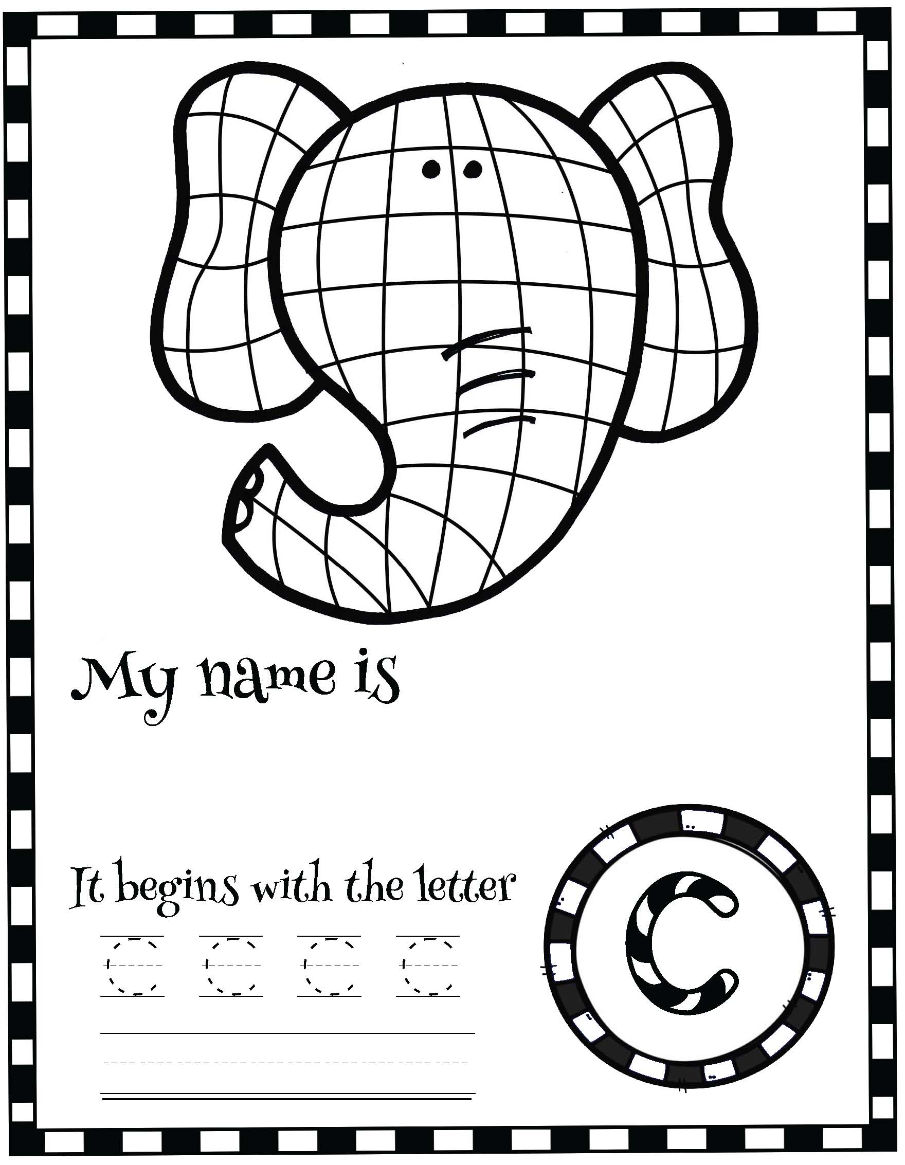 Elmer the elephant activities, name writing activities, name writing crafts, back to school name activities, back to school ideas, icebreakers, elephant crafts, elephant activities, elephant crafts, Elmer crafts, back to school bulletin boards, Elmer activities