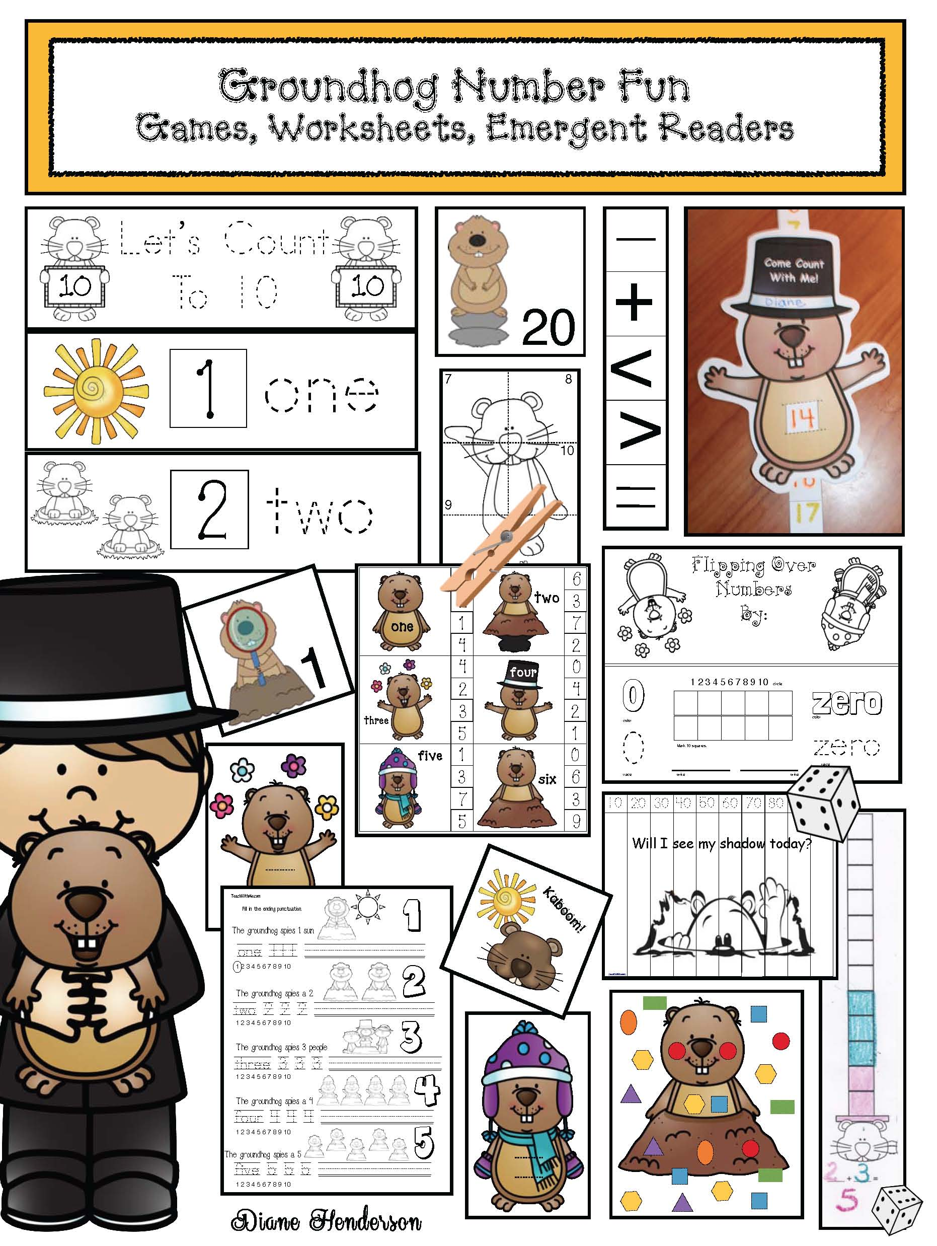 o cover groundhog word work 2
