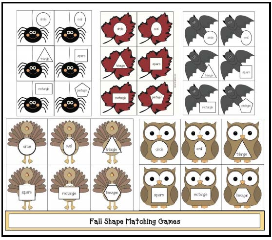 free fall themed 2D shapes matching game