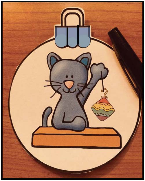 Pete the cat activities, pete the cat christmas ornament, pete the cat crafts, christmas ornaments, christmas centers, christmas crafts