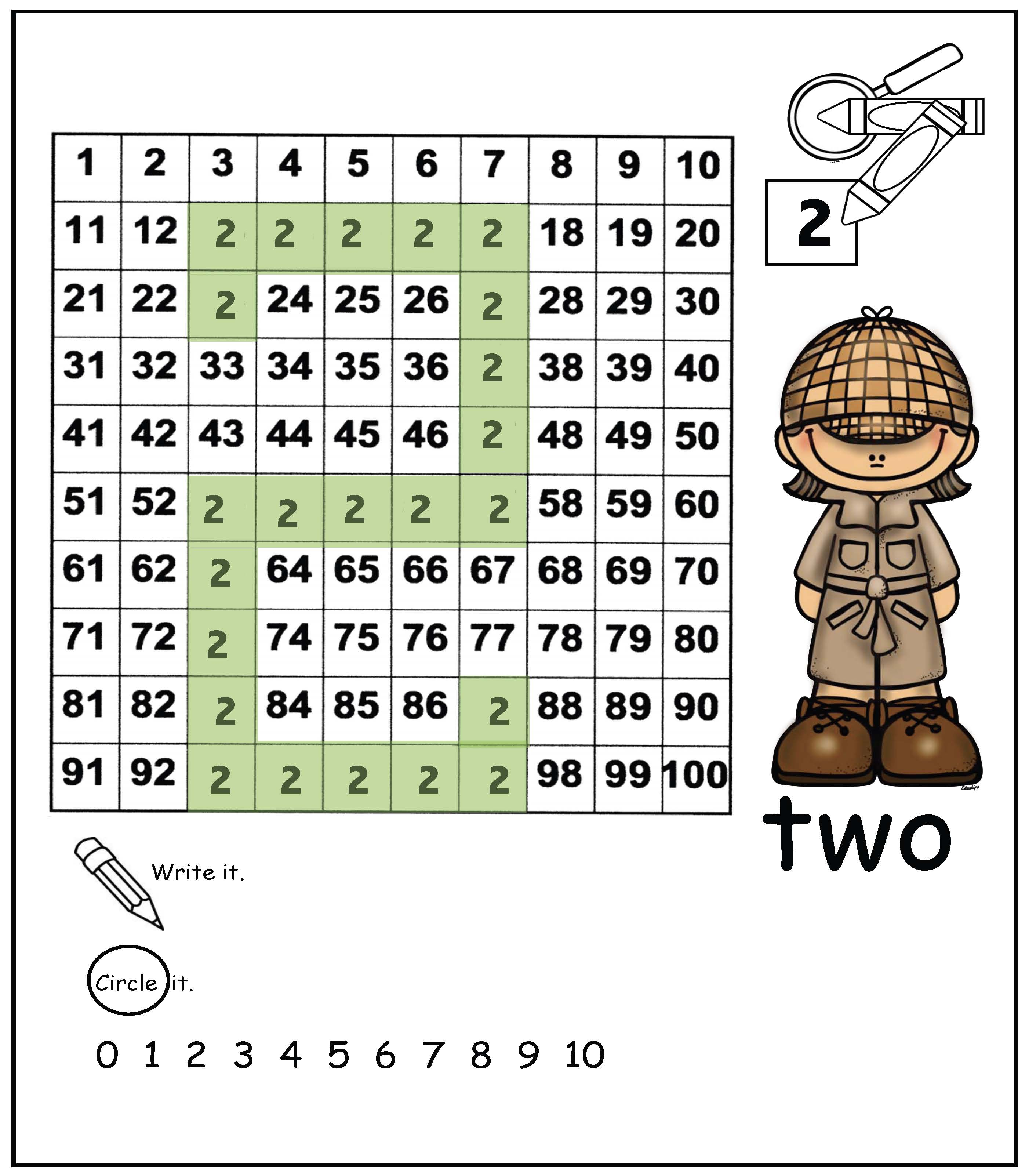 number detectives, math centers, math games, recognizing numbers, hidden pictures, hidden numbers