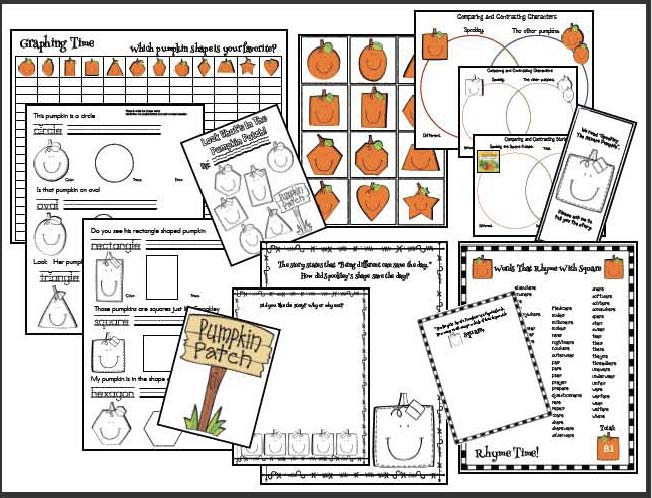 spookley the square pumpkin activities, spookley the square pumpkin story, 2D shape activities, shape games, shape crafts, pumpkin crafts, pumpkin bulletin board, Halloween activities, jack-o-lantern crafts, Peter Peter pumpkin eater nursery rhyme, nursery rhyme activities