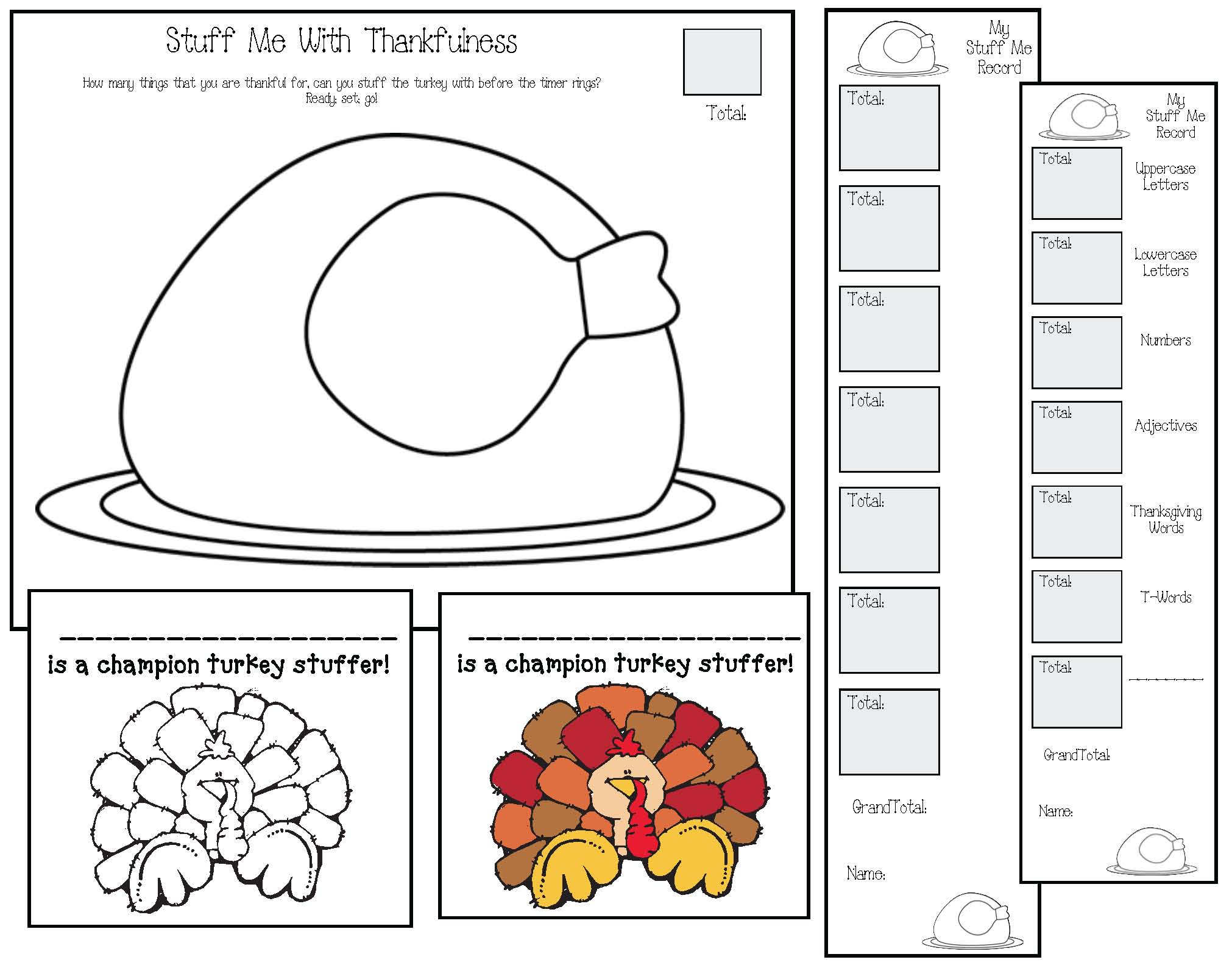thanksgiving worksheets, print and go thanksgiving activities, thanksgiving activities, thanksgiving games, turkey-themed activities, timed activities