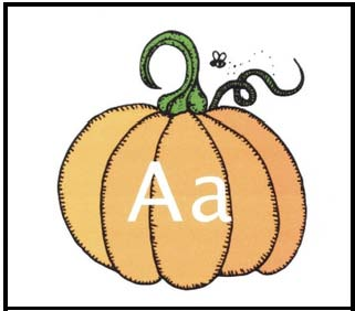 pumpkin alphabet cards, pumpkin games, pumpkin centers