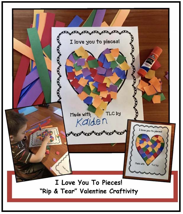 rip tear valentine, valentines day party ideas, valentine cards to make, valentine crafts