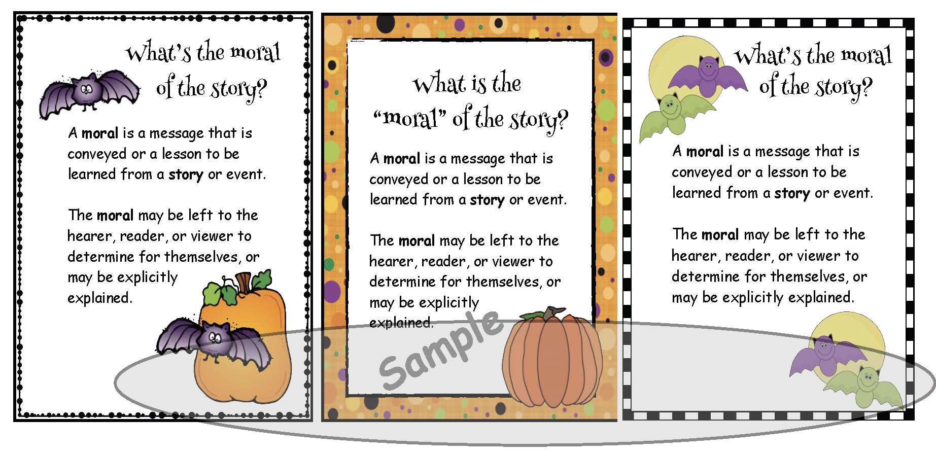 pumpkin crafts, halloween crafts, retelling a story activities, sequencing a story activities, moral of the story activities, moral of the story posters, activities to go with Big Pumpkin, Halloween party ideas,