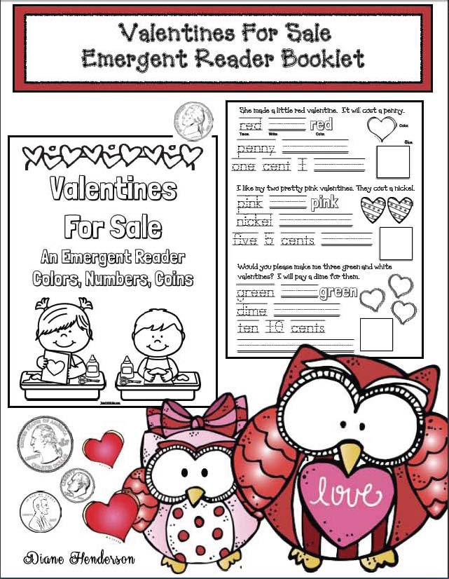 valentine activities, valentine party day ideas, valentine emergent reader, valentine worksheets, print and go activities for valentines day, ideas for valentines