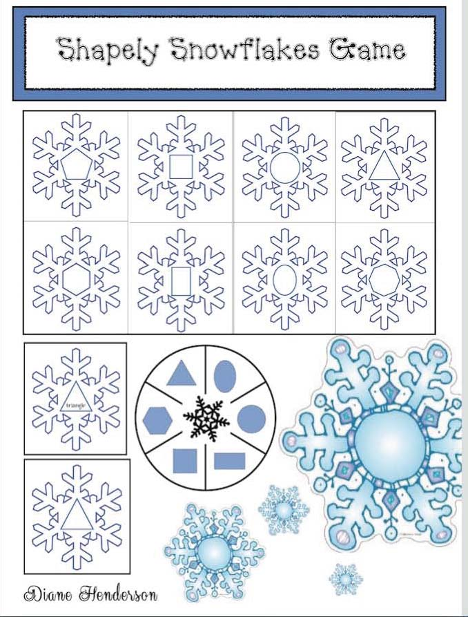 screen shot shapely snowflakes game cov