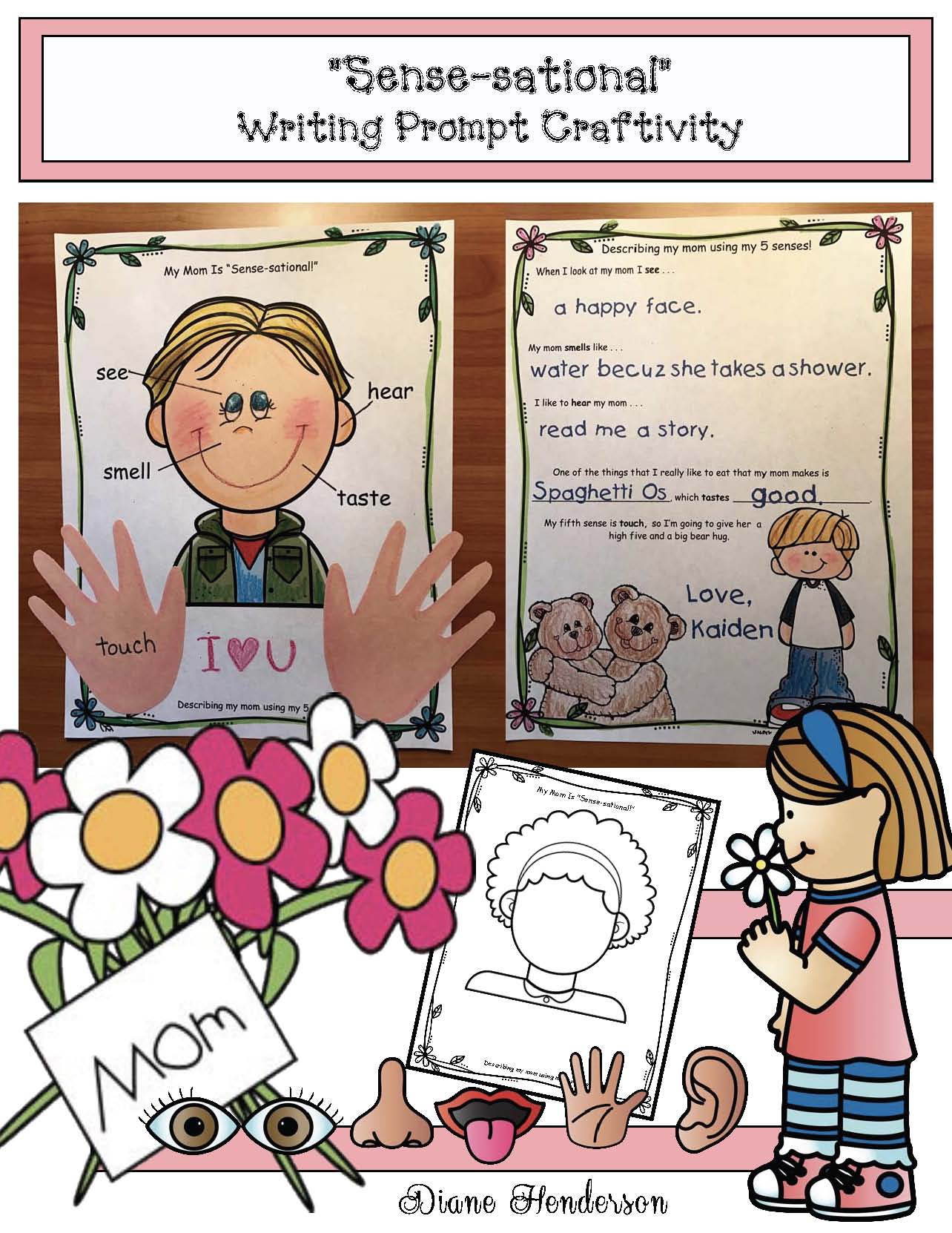 mothers day crafts, mothers day cards, mothers day activities, mothers day writitng prompts, keepsake crafts, hand print crafts, fathers day cards, fathers day crafts, fathers day writing prompts,