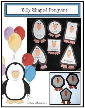 shapely penguins 2D shape craft