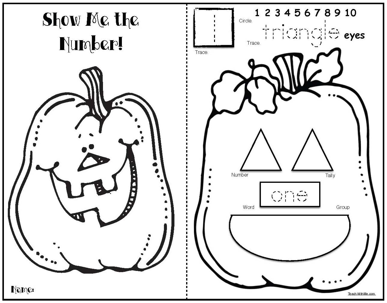 pumpkiin activities, pumpkin math, pumpkin number posters, counting pumpkins, pumpkin booklet